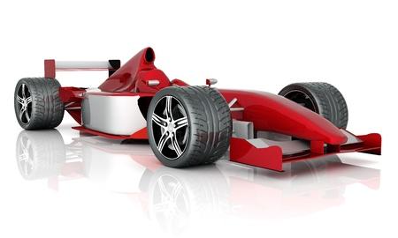 Obraz czerwony samochód sportowy na białym tle