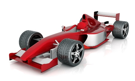 car tire: image red sports car on a white background Stock Photo