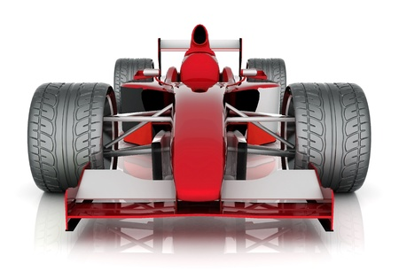 formula one: image red sports car on a white background Stock Photo