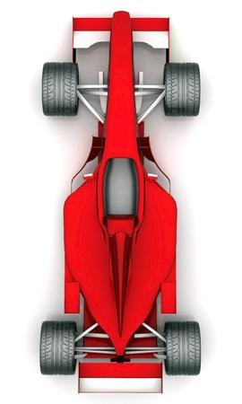 Bild roten Sportwagen auf weißem Hintergrund Standard-Bild - 10674692