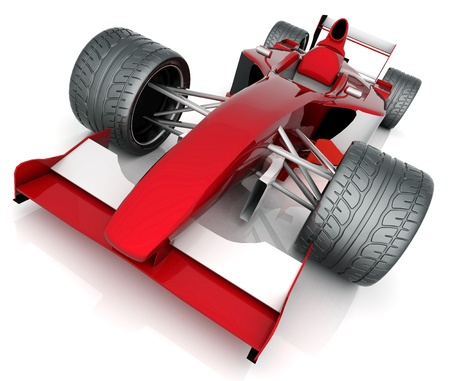 Bild roten Sportwagen auf weißem Hintergrund