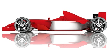 image red sports car on a white background Stock Photo