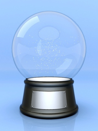 Picture a beautiful, glass ball on a colored background photo
