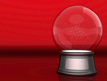 Picture a beautiful, glass ball on a colored background Stock Photo - 10710678