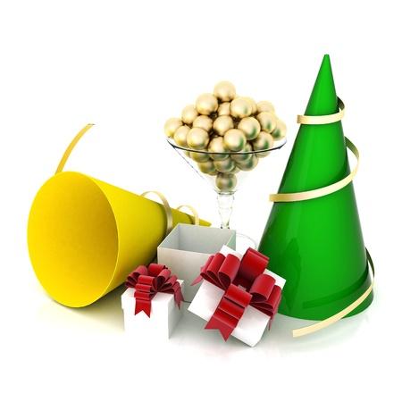 paraphernalia: image festive paraphernalia on a white background
