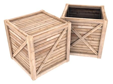 contoured: imagen en un contenedor de madera blanca, fondo blanco