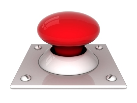 image the red button on a white background Stock Photo - 11087661
