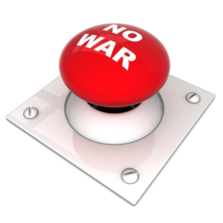 image the red button on a white background Stock Photo - 11087660