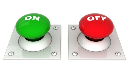 image the red button on a white background Stock Photo - 11087664