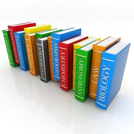 leerboek: Foto's, boeken bindingen en letterkunde