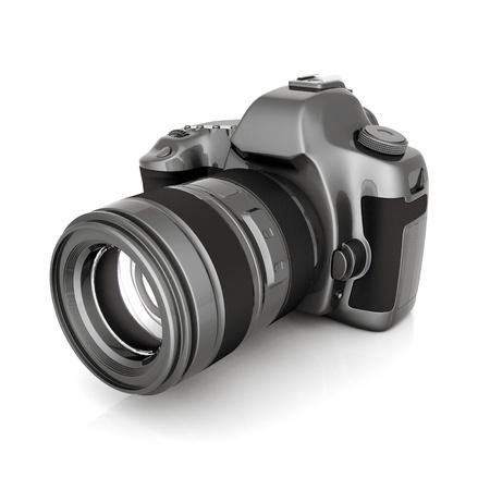 photo camera: Dell'immagine della fotocamera digitale su sfondo bianco Archivio Fotografico