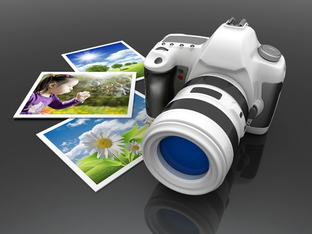 media gadget: Digital camera image on white background