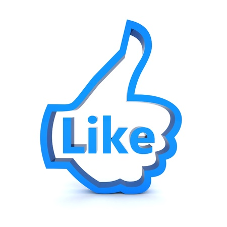 i Like symbol isolated on a white background Stock Photo - 15421495