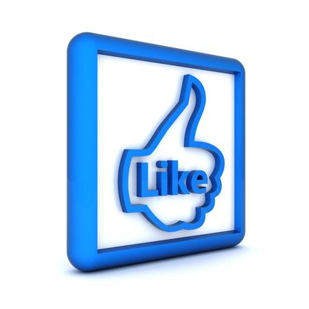 i Like symbol isolated on a white background Stock Photo - 15426699