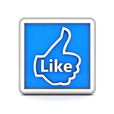 i Like symbol isolated on a white background Stock Photo - 15426700