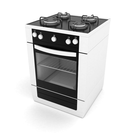 gas stove: picture of household appliances on a white background Stock Photo