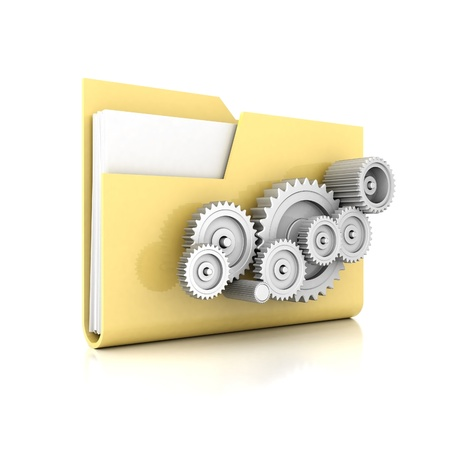 yellow folder isolated on white background
