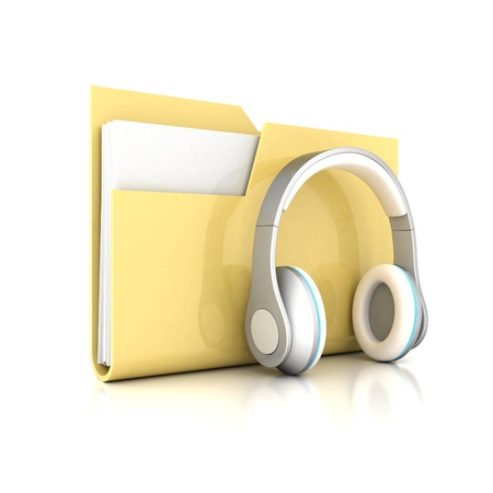 dir: yellow folder isolated on white background