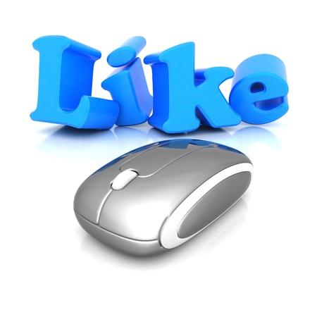 i Like symbol isolated on a white background Stock Photo - 15623572