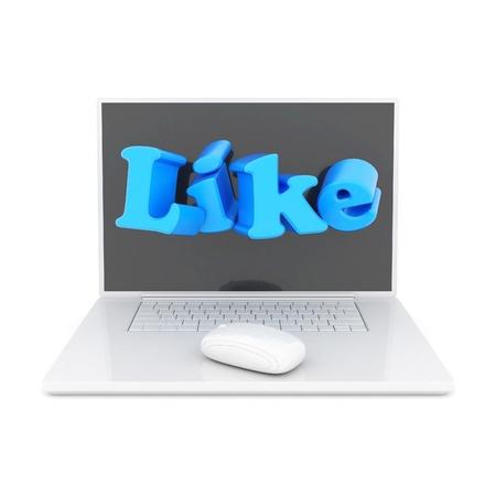 i Like symbol isolated on a white background Stock Photo - 15623564