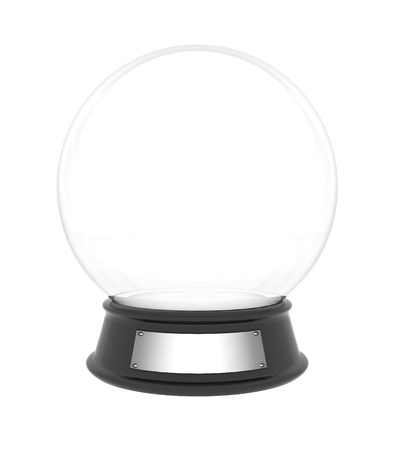 snowglobe: snow dome on a white background isolated Stock Photo