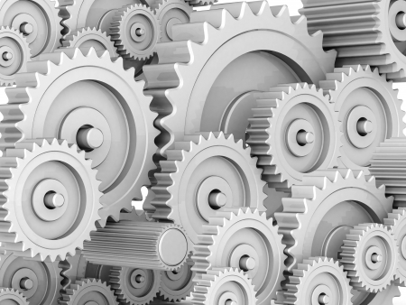 mechanical gears isolated on white background