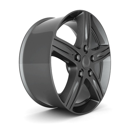 Black sports wheel on a white background Stock Photo - 15686315