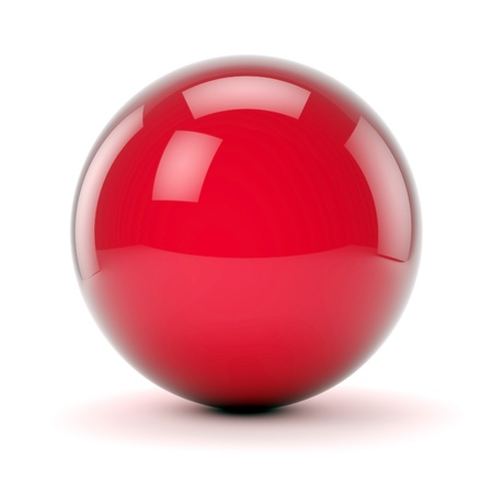 beautiful red sphere on a white background photo