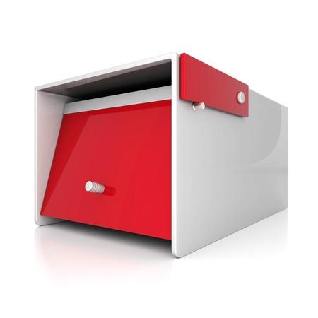 await: beautiful mailbox on white background Stock Photo