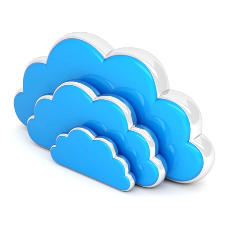 Clouds in 3D isolated on a white background Stock Photo - 16002315