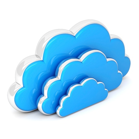 Clouds in 3D isolated on a white background Stock Photo - 16002314