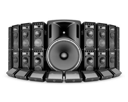 speaker box: music speaker isolated on white background