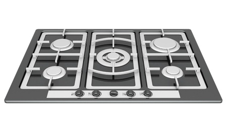 cooker: picture of household appliances on a white background Stock Photo