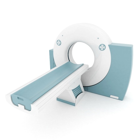 medical scanner: MRI image of the device on a white background