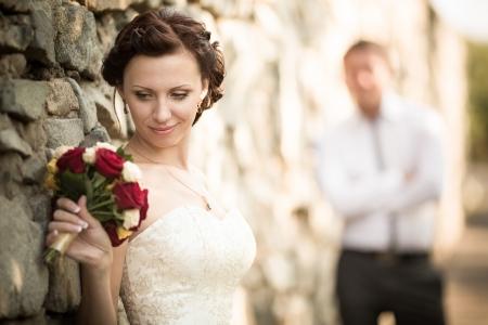 wedding photography: wedding photography is very beautiful couple Stock Photo