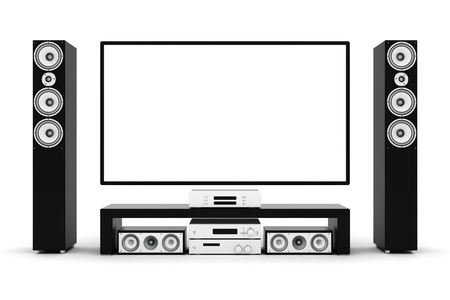 modern home theater on a white background Stock Photo - 21773113