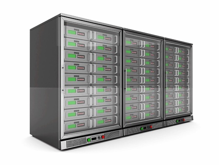 network servers isolated on a white background Stock Photo - 21773778
