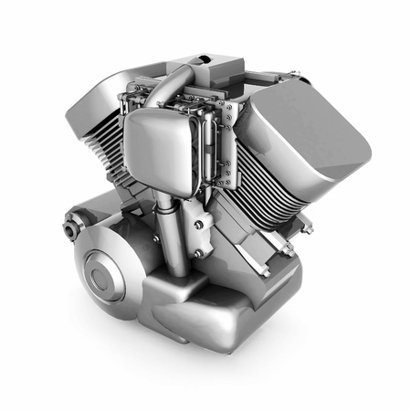 chromed motorcycle engine on a white background Stock Photo - 21926764