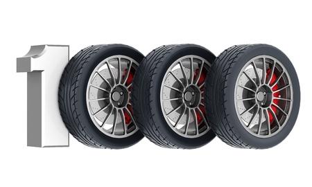 Black sports wheel on a white background Stock Photo - 21926768