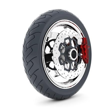 Black sports wheel on a white background Stock Photo - 21926769