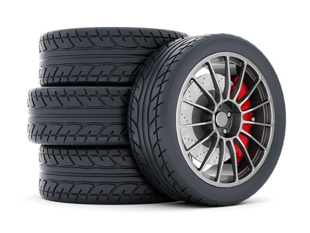 Black sports wheel on a white background Stock Photo - 21926774