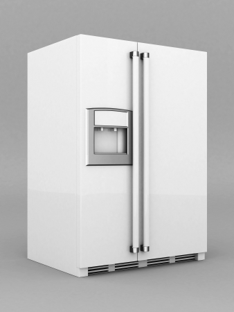 Picture a beautiful refrigerator on a gray background Stock Photo - 21926776