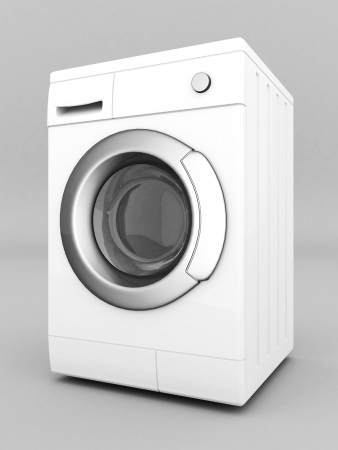 picture of washing machine on a gray background Stock Photo - 21926778