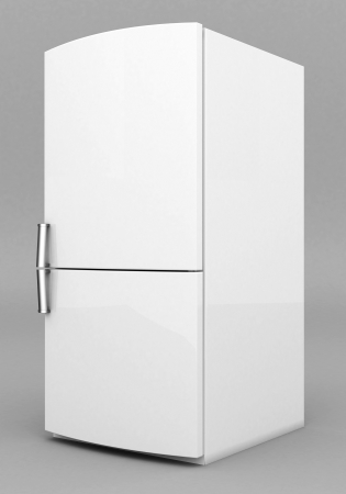 Picture a beautiful refrigerator on a gray background Stock Photo - 21926780