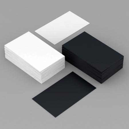 ビジネス カード ブランク モックアップ - テンプレート - グレーの背景