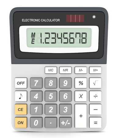 calculator money: Modern office calculator on a white background Stock Photo