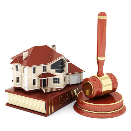 real estate background: beautiful image of judicial attributes on a white background
