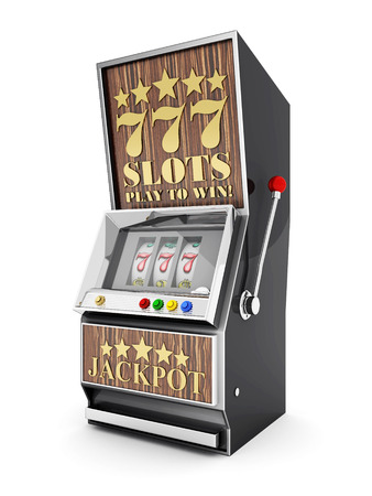 slot machine, gamble machine on a white background Stock Photo