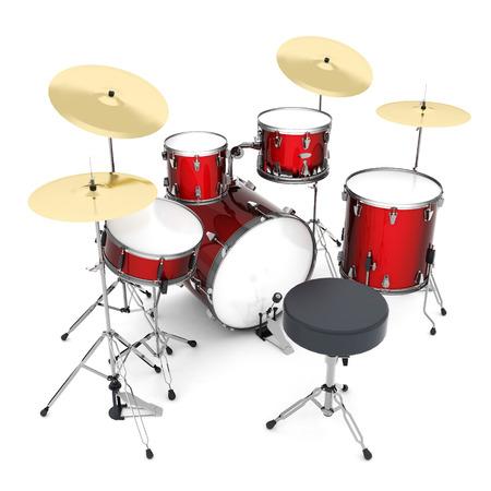 drum kit: Drum kit isolated on white background Stock Photo