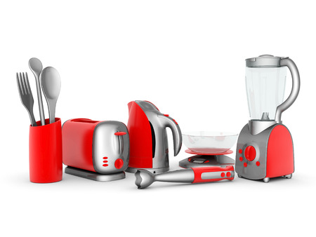liquidiser: picture of household appliances on a white background Stock Photo